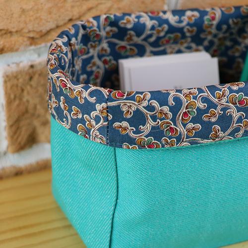 Vide poches vert avec motifs vintage, upcyling