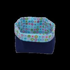 Vide poches bleu pop en tissu de recup écolo