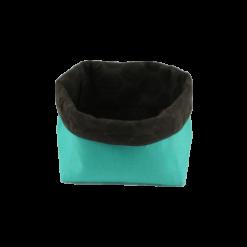 Vide poches vert marron en tissu de recup ecolo