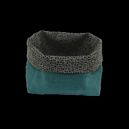 Vide poches vert croco en tissu de recup écolo