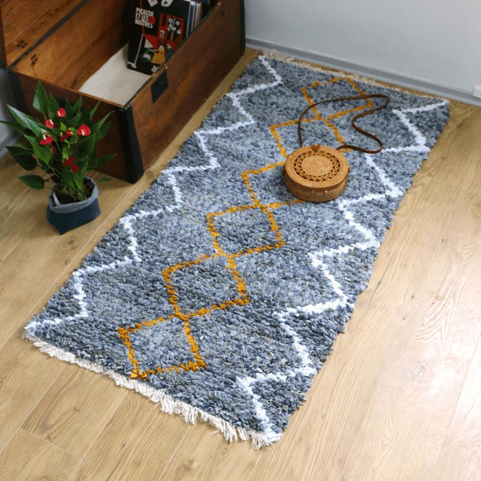 Tapis Nisa, chutes de tissu recyclage upcycling