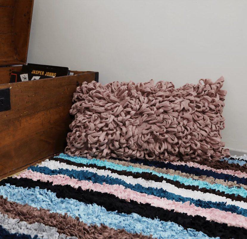 déco récup, tapis patchwork
