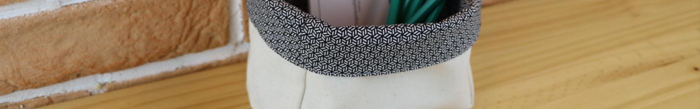 Accessoires upcycling en tissu de recup
