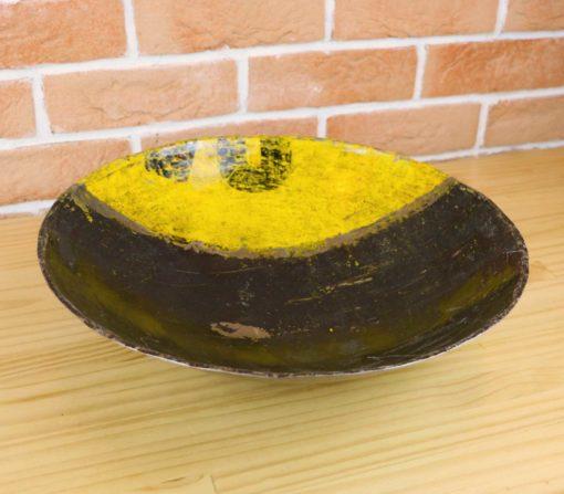 coupelle déco récup jaune et noir