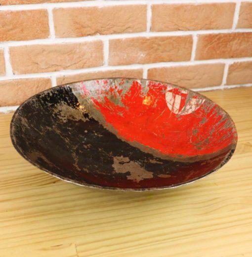 coupelle déco récup rouge et noir