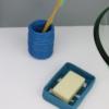 Porte Savon écologique Bleu en plastique upcyclé