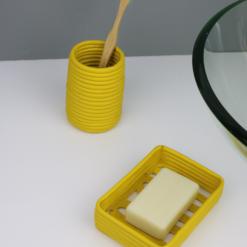 porte savon écologique jaune