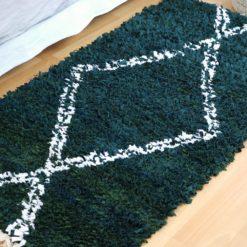 Flore, tapis boucherouite écolo