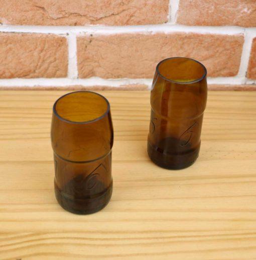 Verres upcycling avec bouteilles de 1664
