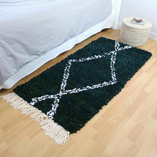 Flore, tapis boucherouite