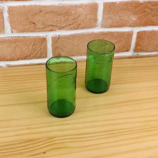 Verres upcycling avec bouteilles de heineken