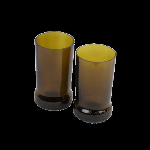 Verres récup de canettes de bière