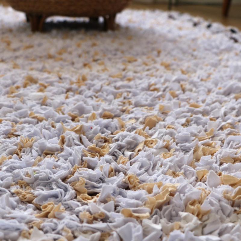 """tapis boucherouite """"l'atlas"""" fait main, photo description"""
