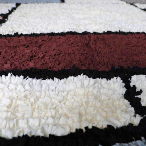 "Tapis boucherouite ""Grand Piet"" tapis upcycling"