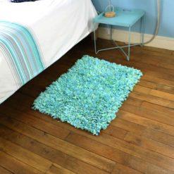 """Tapis boucherouite """"Catelle"""" tapis chambre chutes de tissus"""
