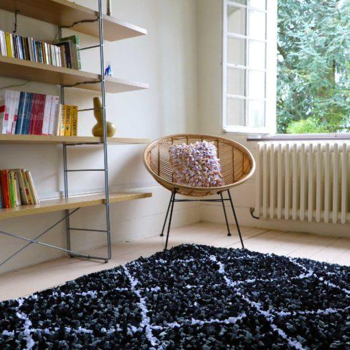 """tapis boucherouite """"élégant"""" déco upcycling"""