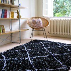 """tapis boucherouite """"élégant"""" déco upcycling fait main"""