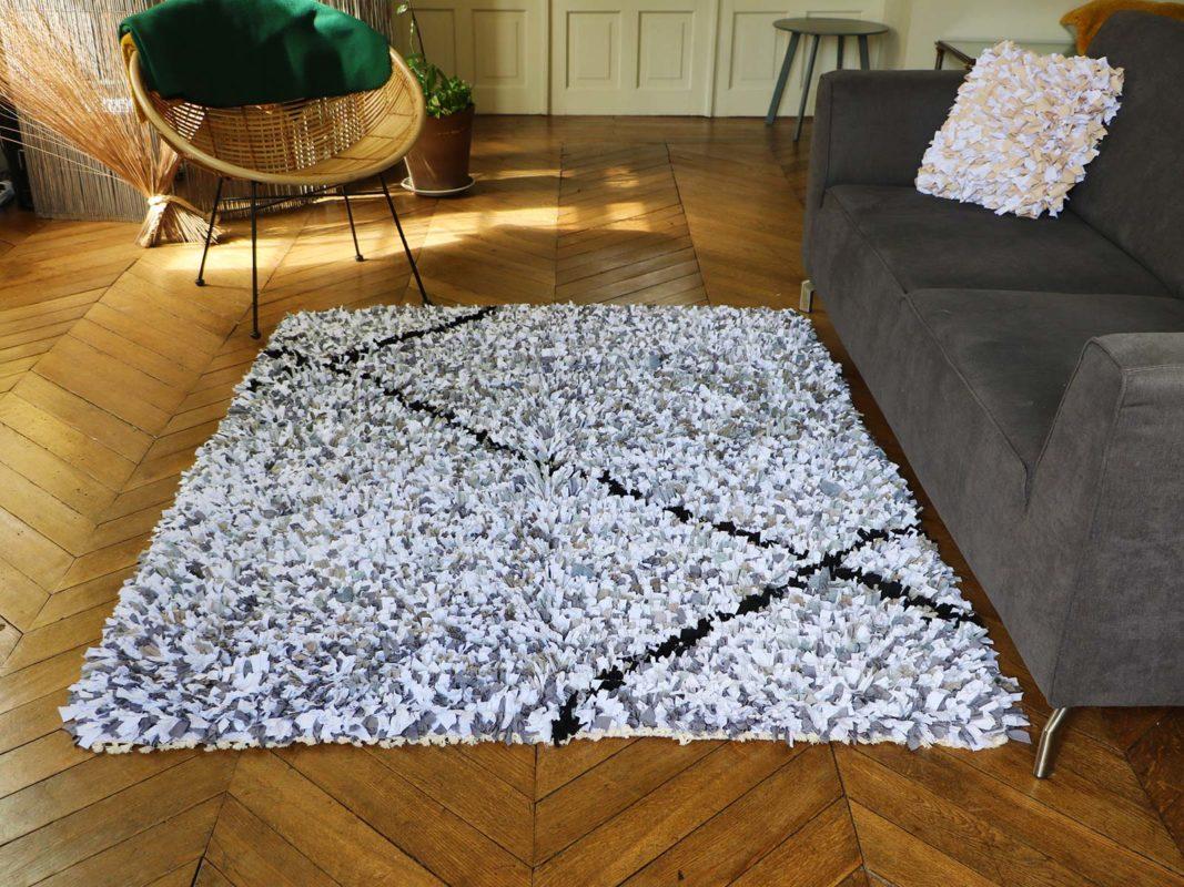 Quel tapis avec un canapé gris ?  Gris et noir