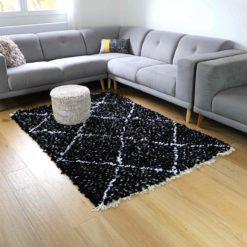 """tapis boucherouite """"élégant"""" tapis marocain fait main"""