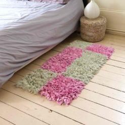 "Tapis boucherouite ""Catelle"" petit tapis fait main"